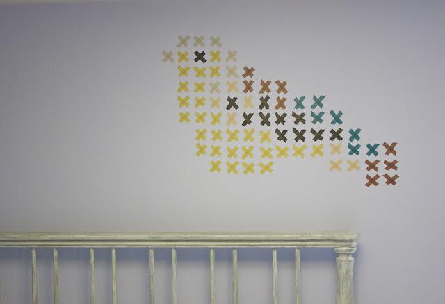 ponto de cruz na parede