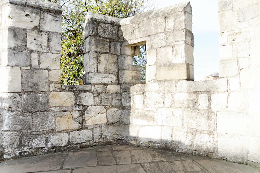Detalhe da muralha.