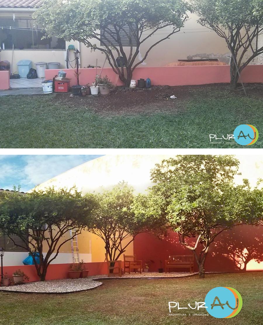 Projeto de paisagismo ~ antes e depois