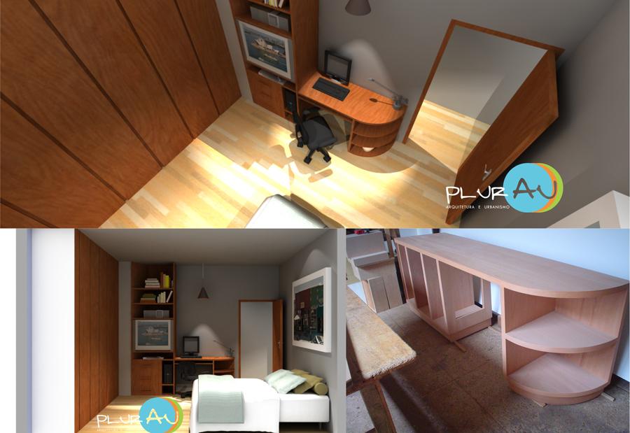 Projeto de mobiliário - maquete eletrônica e execução