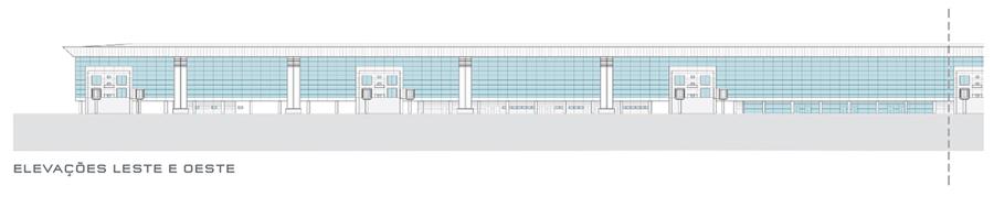 Terminal 3 Guarulhos elevação leste-oeste 01