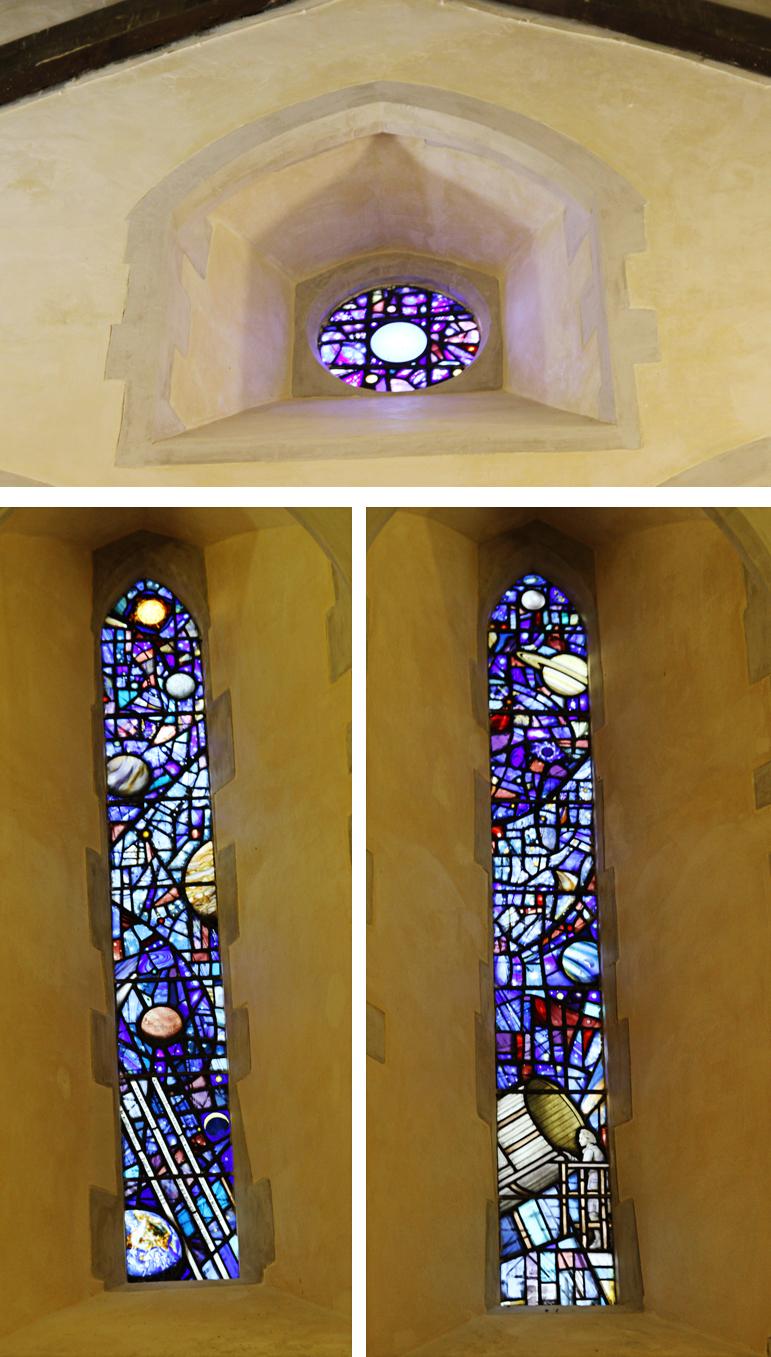 Vitral de Herschel na igreja St Laurence