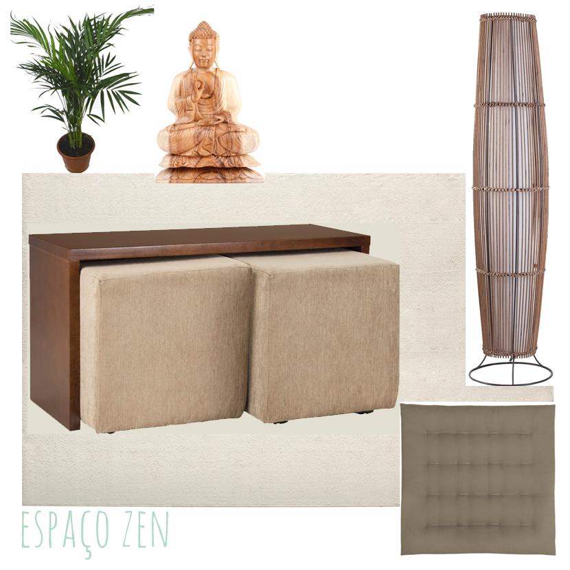 espaço zen meditação oração moodboard