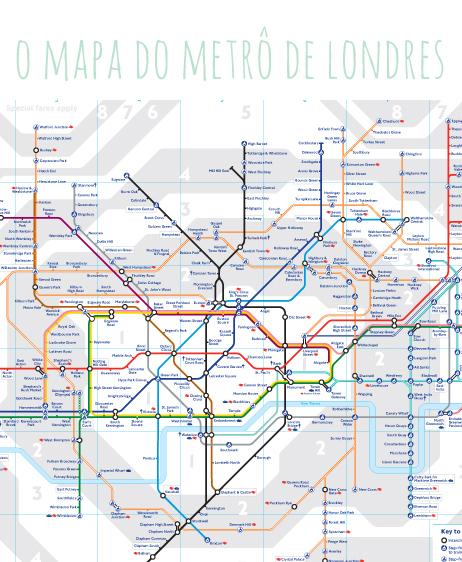 mapa atual do metro de Londres