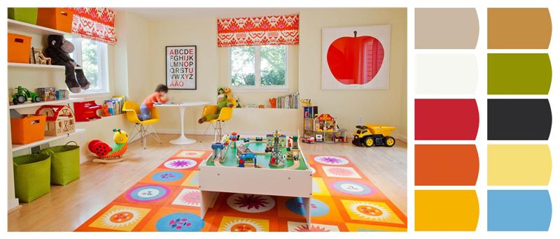 _01 Quartos de brincar leighton design esquema de cores