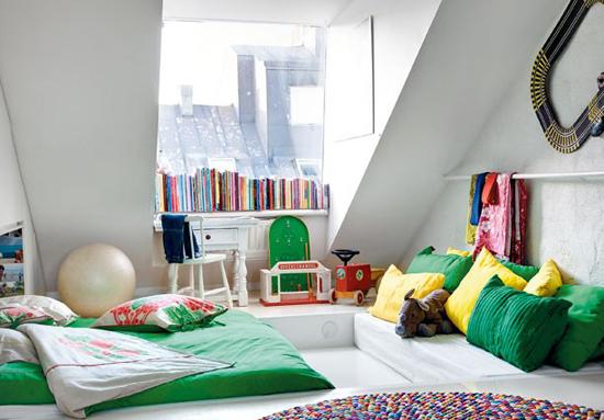 quartos montessori inspiração verde
