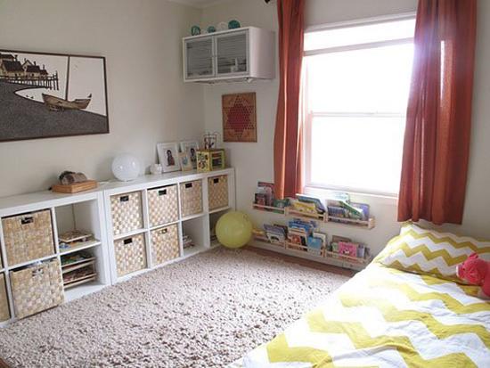quartos montessori inspiração amarelo