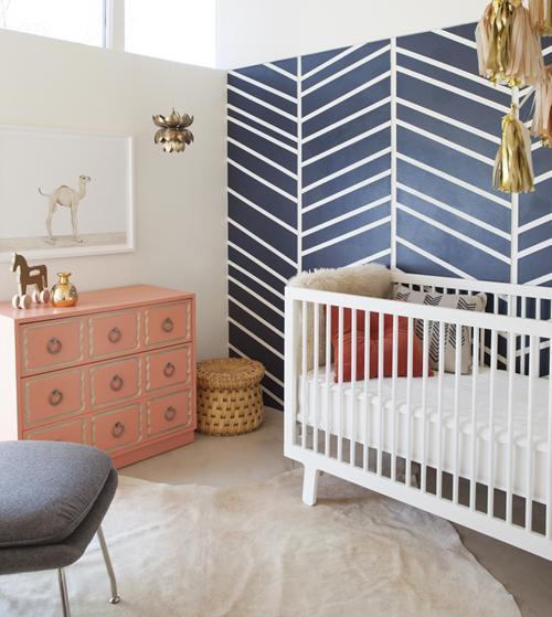 Quartos de bebê azul e rosa