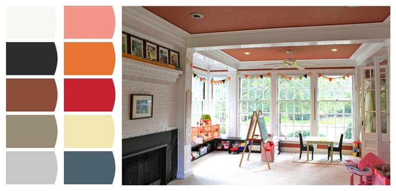 _04 quartos de brincar bryant park designs esquema de cores
