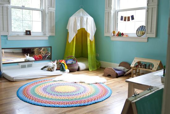 quartos montessori inspiração turqueza