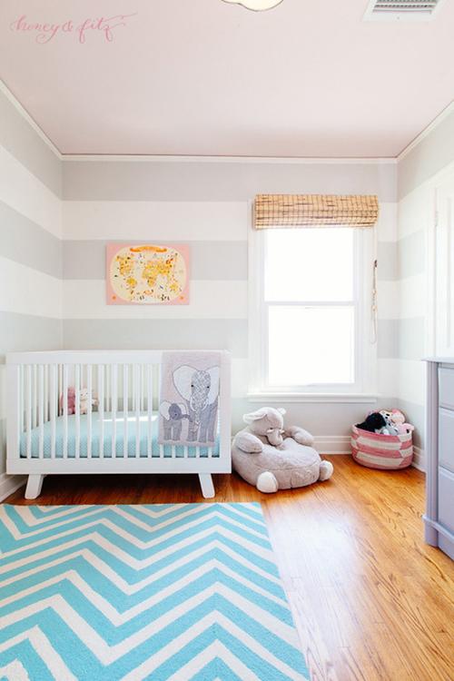 quartos de bebê azul