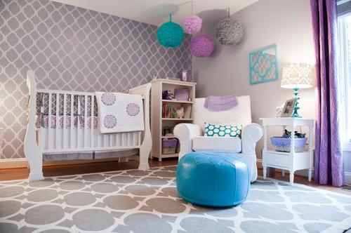 quartos de bebê lilás