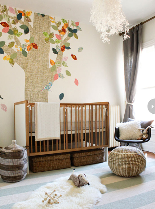 quartos de bebê neutro mas colorido