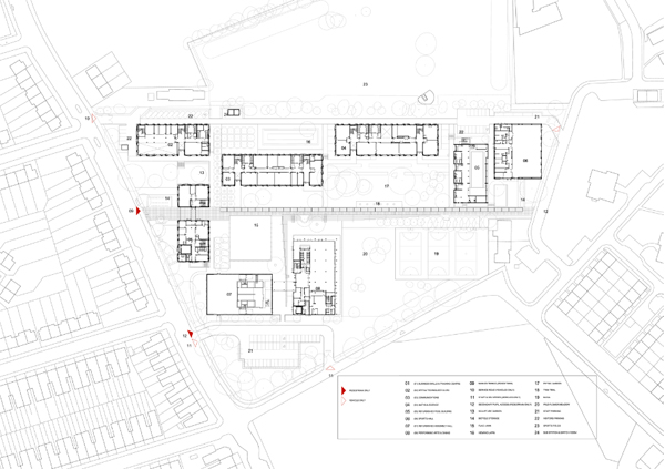 Burntwood school site plan