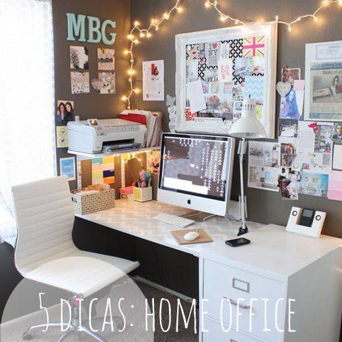 banner 5 dicas home office decoração