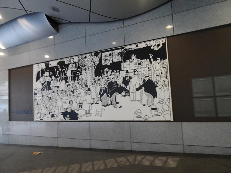 09_Estação Bruxelles-Lurxembourgh Hergé