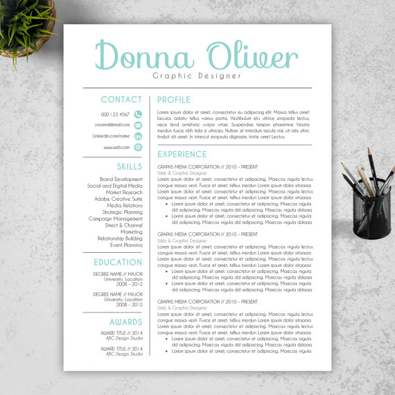 Modern Resume Template, by Resume Book