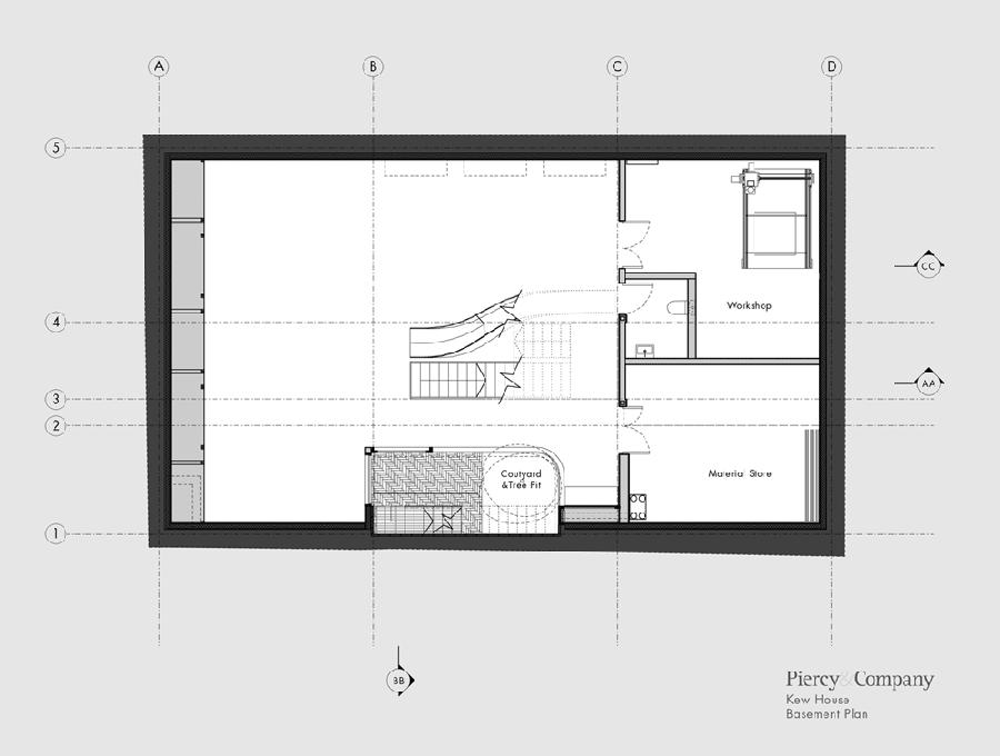 Kew House Piercy and Company Pavimento Subsolo