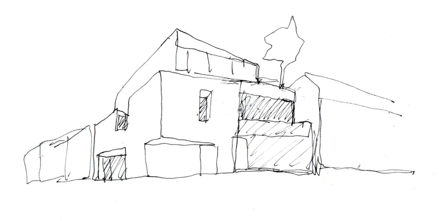 Levring House Jamie Fobert Architects croquis 01