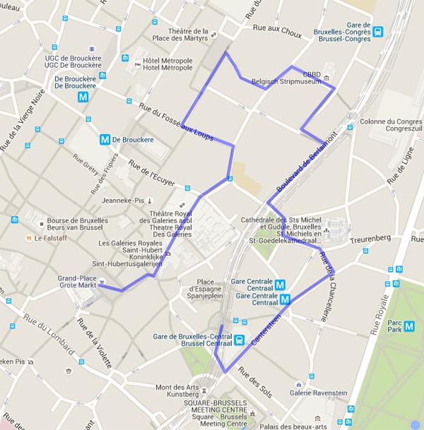 Mapa Arquitetura Bruxelas