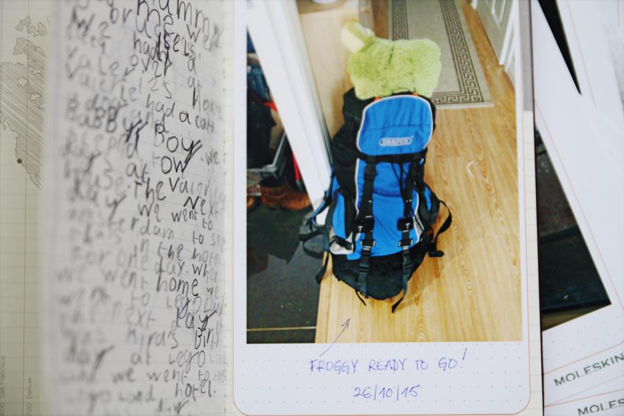 Moleskine Voyageur por dentro diário da Lily