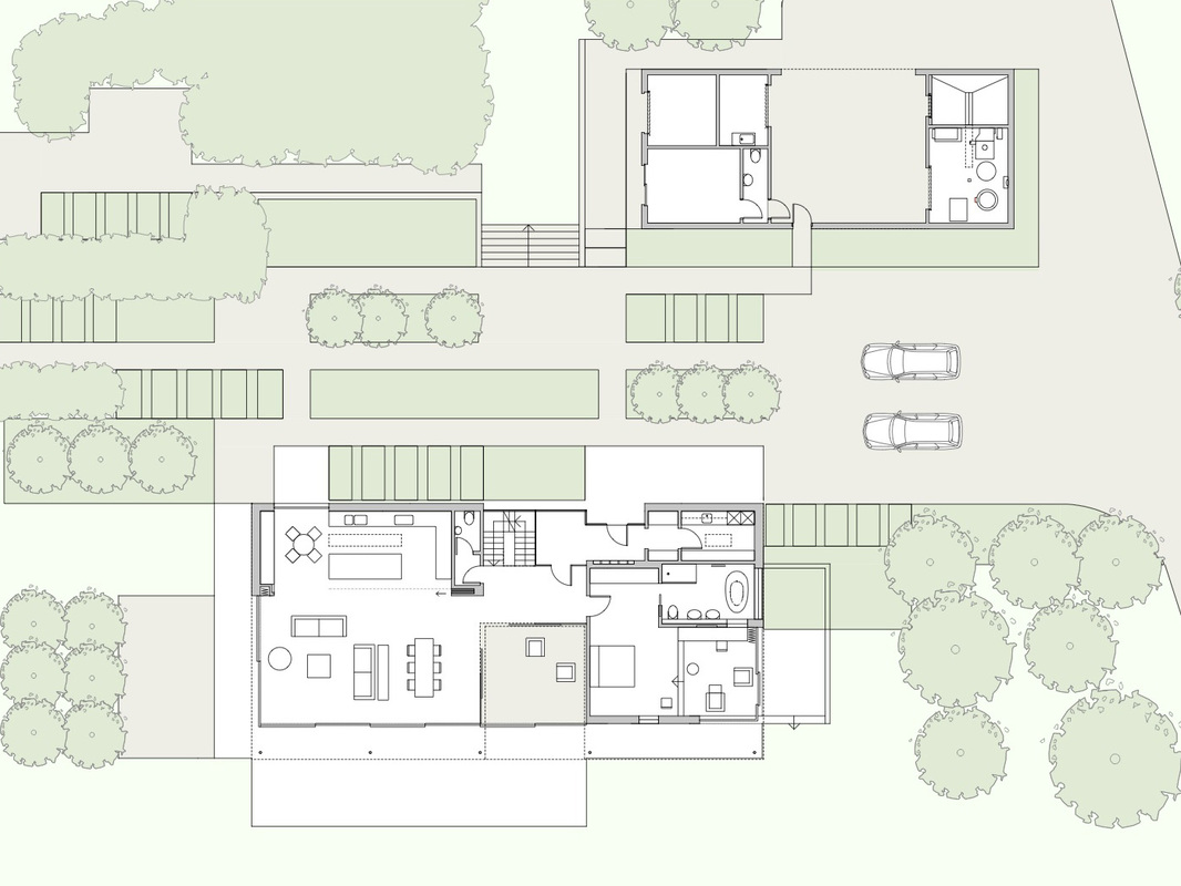 Sussex House Wilkinson King Architects Site Plan