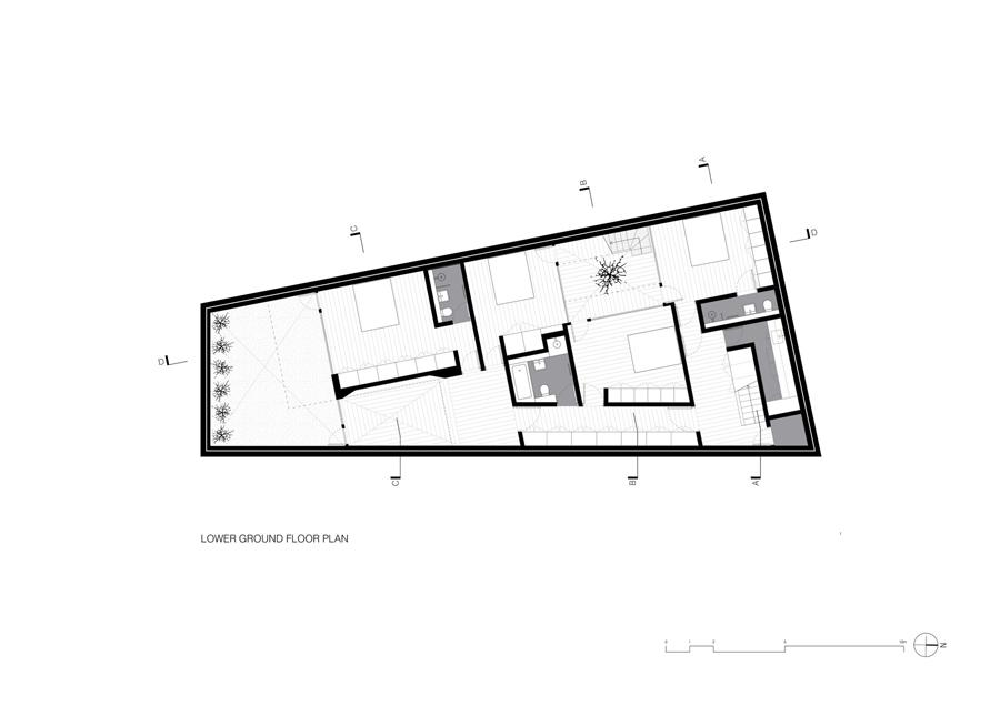 Vaulted House vPPR planta pavimento térreo inferior