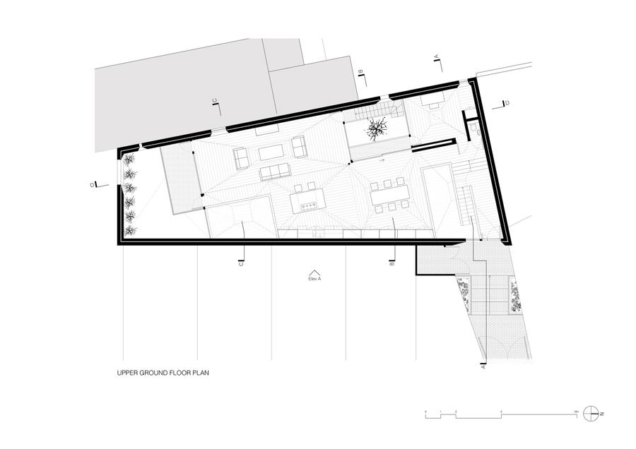 Vaulted House vPPR planta pavimento térreo superior
